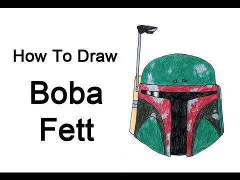 How To Draw Boba Fett Star Wars Youtube