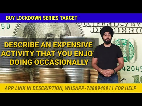 An Expensive Activity You Enjoy Occasionally | New Cue Card Expensive Activity | Sample Band 8.0