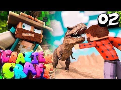 """I BROUGHT BACK A DINOSAUR"" |  Minecraft Crazier Craft SMP Episode 2"