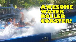 Poseidon Water Coaster Front Seat POV Europa Park Germany