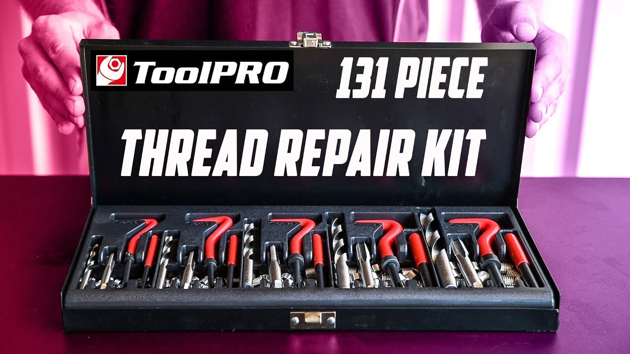 ABN 131-Piece Metric Thread Repair Set Damaged Helicoil-Type Thread Master Repair Kit for Automotive Repairs