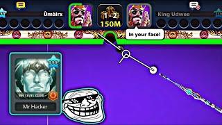 ** WORLD RECORD ** Trİple 3 Knuckle Kiss Shot in 8 Ball Pool 😍 Level 1000 Trickshots And Kiss Shots
