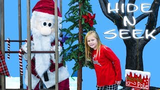 SANTA Plays Hide N Seek Game with Assistant and her Friend Mickey Mouse