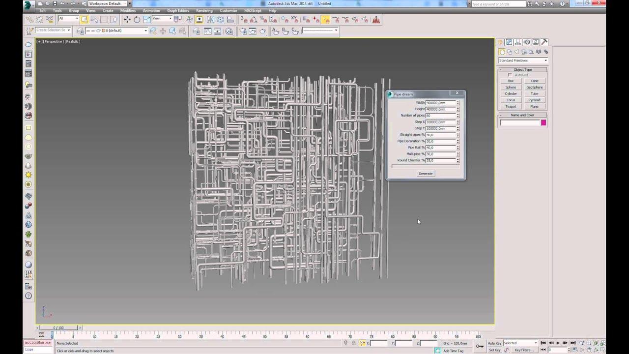 PipeDream - Autodesk 3ds Max script