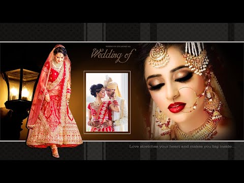 Wedding Album Design 12x18 PSD Tutorial In Hindi Photoshop CC
