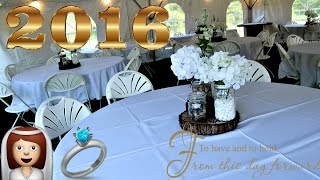 GETTING READY FOR OUR 2016 BACKYARD RUSTIC WEDDING! 👰