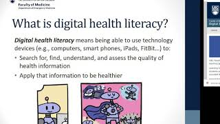 The public health association of bc, bc literacy network and centre for collaboration, motivation, innovation presented a 1-hour webinar p...
