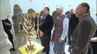 Silvio Santos visita Edir Macedo no Templo de Salomão