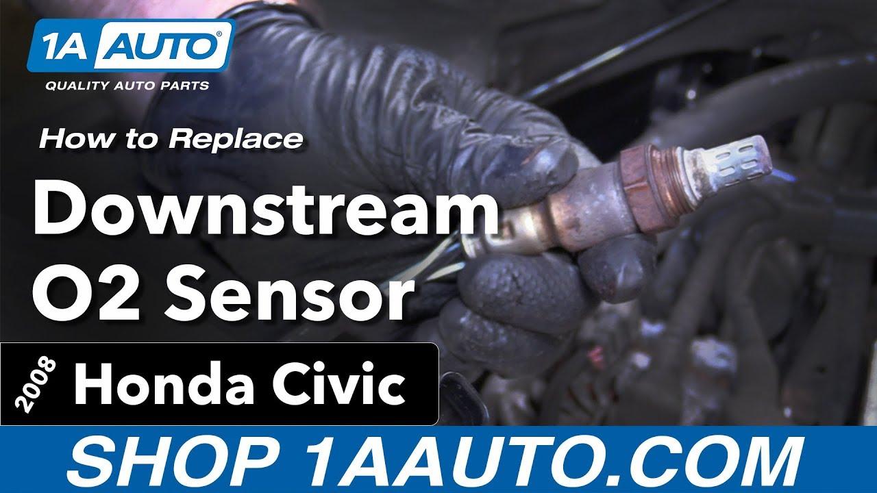 How To Replace Downstream O2 Sensor 05 11 Honda Civic Youtube