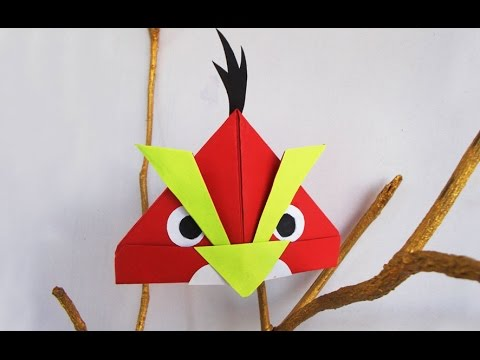 Papercraft Fun crafts for Kids : Angry Bird Crafts Ideas for kids I Simple Origami Bird | Kids Activities