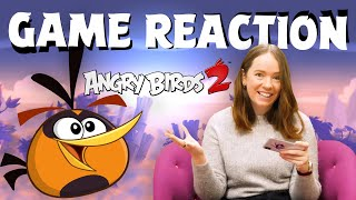 Angry Birds Game Reaction | Danielle playing Angry Birds 2!