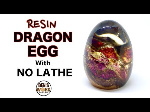 How to make a resin dragon egg with no lathe