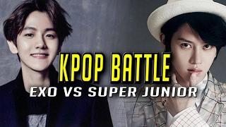 KPOP Stars Play League: SUPER JUNIOR (HEE CHUL) VS EXO (BAEK HYUN) Highlights (Translated)