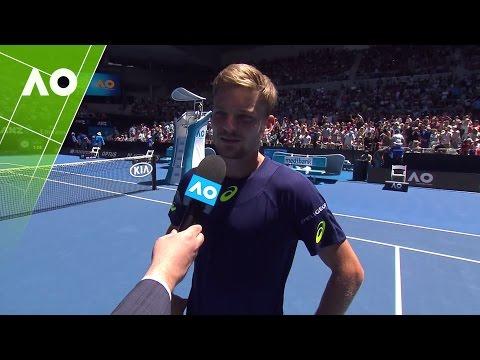 David Goffin on court interview (3R)   Australian Open 2017