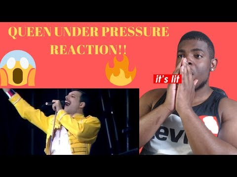 QUEEN UNDER PRESSURE REACTION  (Live At Wembley)