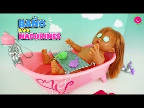 Cómo Bañar A Todos Los NADURINES 🛁Nueva Bañera De Juguetes Con Accesorios
