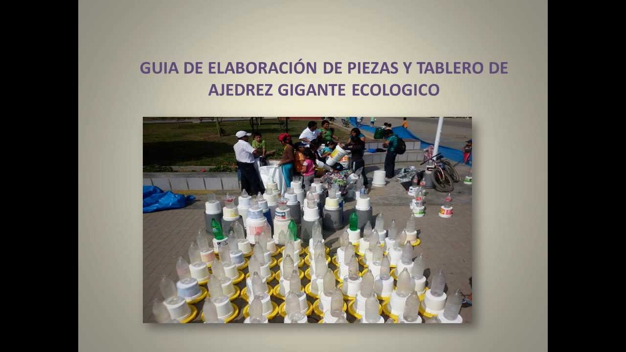 GUIA DE ELABORACION DE AJEDREZ GIGANTE ECOLOGICO  YouTube