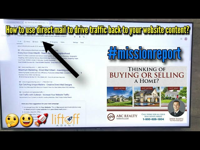 How to use direct mail to drive traffic back to your website content? #missionreport