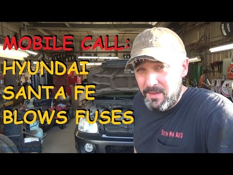 Hyundai Santa Fe - Blows ECU Fuse