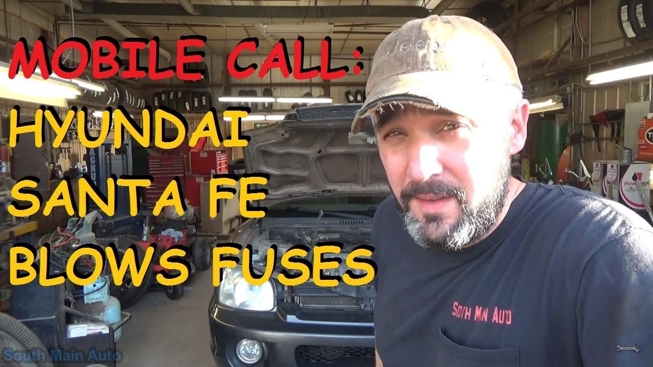 Hyundai Santa Fe Blows Ecu Fuse Youtube Fuel Pump Wiring