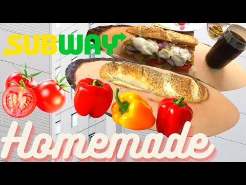 Subway Sandwich Homemade/Cheese Oregano Baguette/Tuna Fish Sandwich/Caesar Sauce