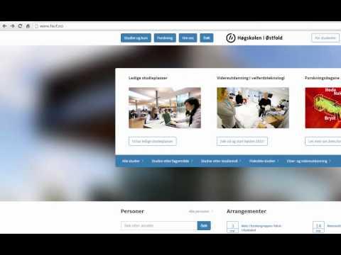 Studentregistrering på Høgskolen i Østfold