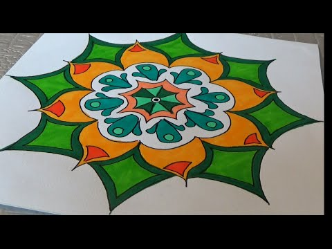 How To Draw An Easy Mandala With Colors