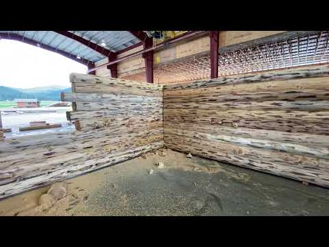 Log Home Pre-Assembly For Upper Michigan- Meadowlark's Swiss Chalet