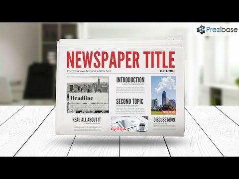 3d newspaper prezi template youtube. Black Bedroom Furniture Sets. Home Design Ideas
