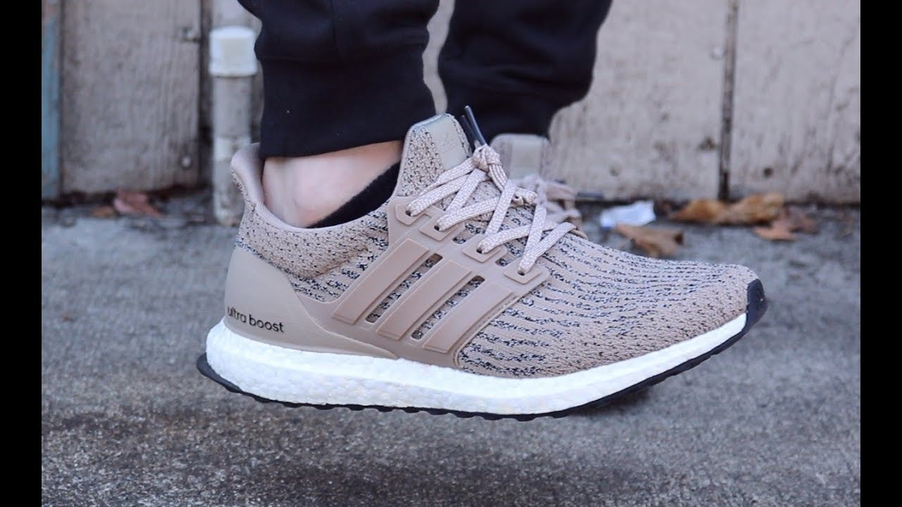 112e9c6bf Ultra boost Trace Khaki UNBOXING, and ON FEET Review - YouTube