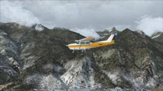 FSX Geneva to Sion, Switzerland - VFR