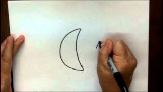 How To Draw Moon And Stars Step By Step Tutorial For Children