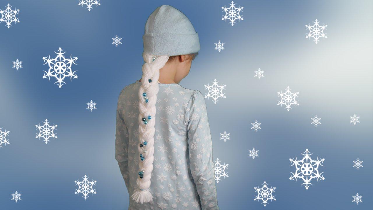 Mütze Mit Elsa Zopf Frozen Diy Nähen Halloween Youtube
