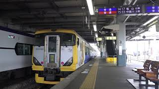 松本駅へ回送列車で到着、折り返し所属先へ帰ったE257系500番台。(警笛・MH有り)