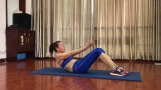 45p giảm cân nhanh phần 2 bài bụng mông đùi