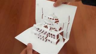 Hagia Sophia - kirigami pop up card paper art diy toturial make and learn amazing craft