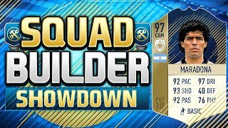 Video FIFA 18 SQUAD BUILDER SHOWDOWN!!! PRIME ICON MARADONA!!! Diego Maradona SBSD download MP3, 3GP, MP4, WEBM, AVI, FLV April 2018