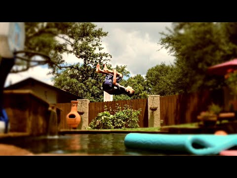 How To Backflip Into A Pool!!!