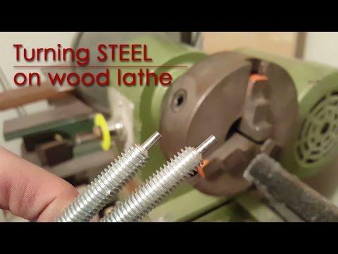 Turning Steel on wood lathe