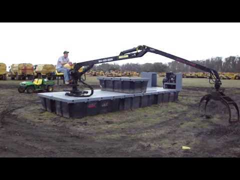 Barge with Grapple Excavator