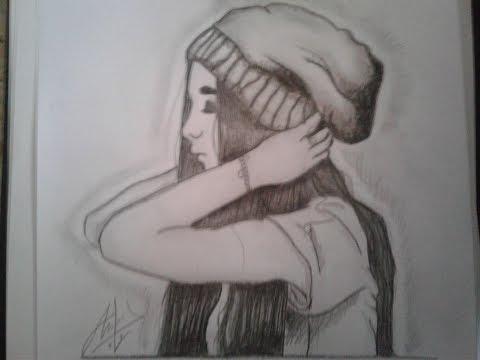 How to draw a swag girl❤❤ , by anas djellouli رسم فتاة