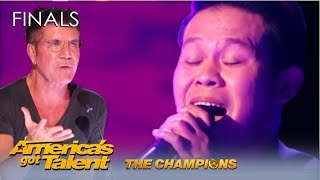 Marcelito Pomoy: SOLO DUET of Beauty and the Beast WOWS Judges But Simon... 'AGT Champions'