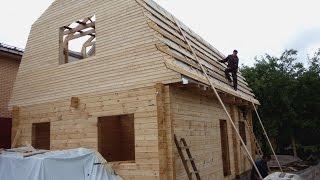 Дом из бруса с каркасной мансардой