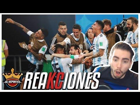 Reacciones del Argentina vs Nigeria Rusia 2018 | KC Deportes