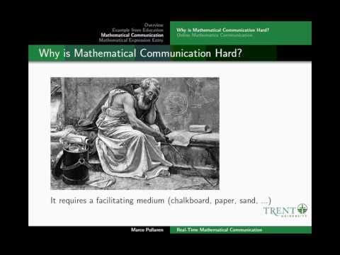 Prof. Marco Pollanen of Trent University, Online Technologies ...