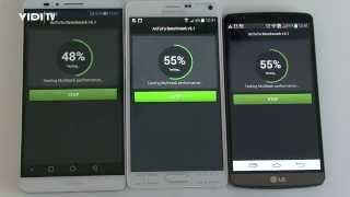 Samsung Galaxy Note 4 vs. LG G3 vs. Huawei Ascend Mate 7 - AnTuTu Benchmark