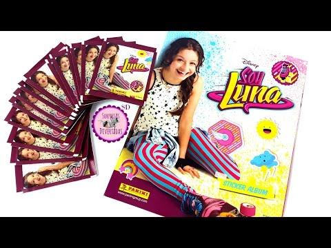Álbum de SOY LUNA + 15 sobres de cromos y pegatinas de Panini + Póster gigante de Soy Luna