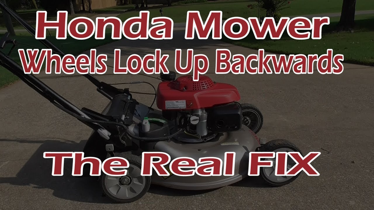 small resolution of honda mower rear wheels will not roll backwards the real fix