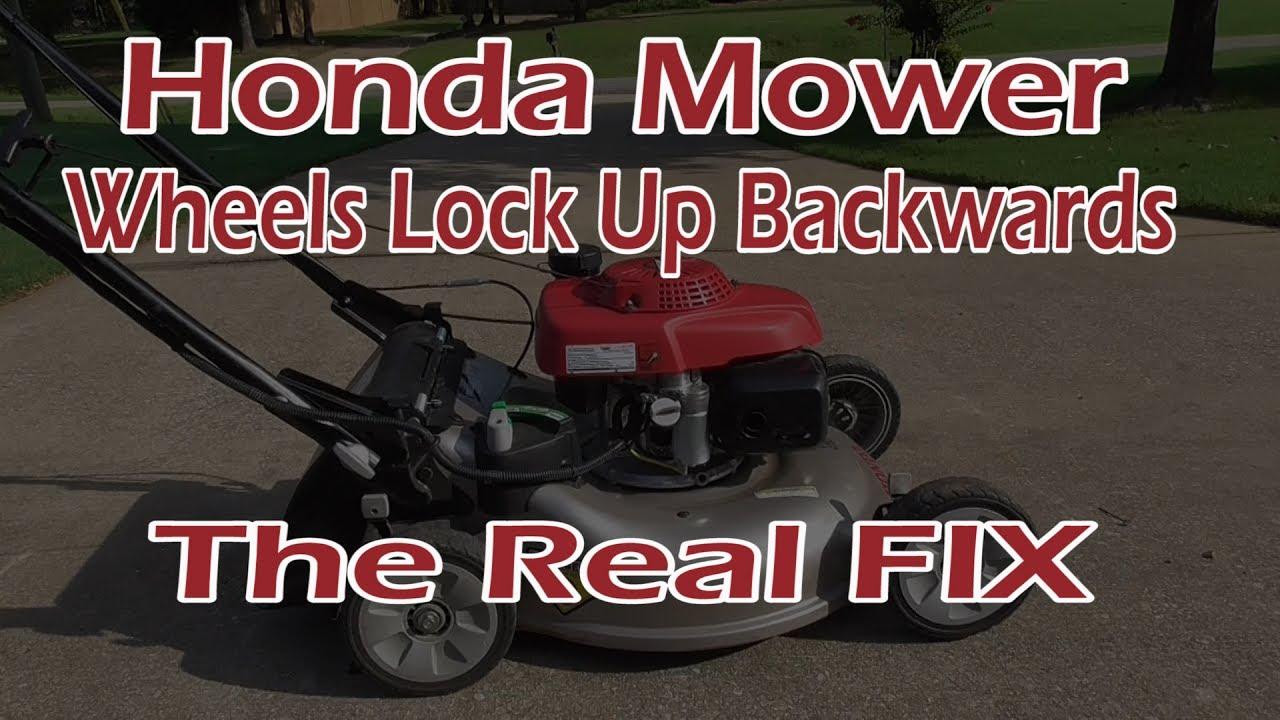 hight resolution of honda mower rear wheels will not roll backwards the real fix