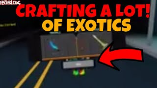 CRAFTING A LOT OF KNIVES! *OVER 10 EXOTICS CRAFTED* (ROBLOX ASSASSIN CRAFTING)